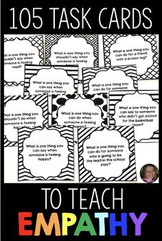 These empathy task cards for kids will help your students discuss this important social skill! Students will students identify how others are feeling based on physical and situational clues, as well as develop empathetic responses to the feelings and situations that others may be experiencing. These empathy activities are perfect for your social skills lessons, friendship lessons, or bullying prevention lessons and can be used in individual, small group or classroom school counselors!