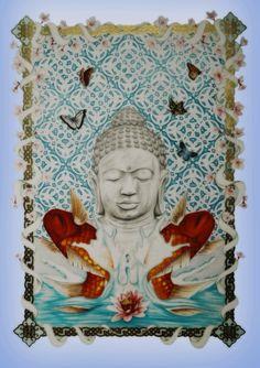 Amazing pencil drawing by Steven Allan Buddha meditation dragon colour pencils gold koi fish Lotus flowers tattoo Cool Pencil Drawings, Fish Drawings, Buddha Meditation, Lotus Flowers, Flower Tattoos, Koi, Colored Pencils, My Arts, Sketch