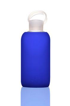 BKR Silicone + Glass Water Bottle in True