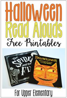 Halloween read alouds (with free printables) for upper elementary classrooms. Review poetry, theme, and context clues with these Halloween picture books.