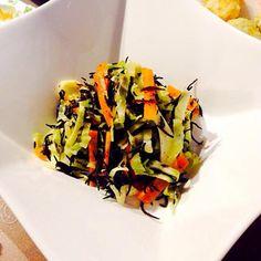 夜ごはん、副食です(o^^o)♪ - 5件のもぐもぐ - ひじき、キャベツのサラダ★ by satoming72