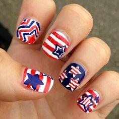 4th of July or Memorial Day by  pamsandkin  #nail #nails #nailart