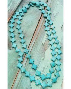Jewelry Junkie Women's Multi-Cross Turquoise Necklace , Multi