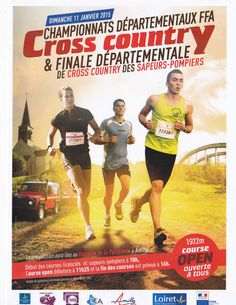 Affiche Championnats départementaux FFA Cross country & Finale Départemental de cross country des sapeurs pompiers 2015 Event Flyers, Ffa, Courses, Cross Country, Comic Books, Comics, Cover, Fire Department, Event Posters