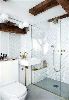 Simple Master Bathroom Renovation Ideas #bathroom #bathroomdecor #bathroomrenovationideas Modern Vintage Bathroom, Classic Bathroom, Modern Bathroom Design, Bathroom Interior Design, Bathroom Designs, Modern Design, Scandinavian Bathroom Design Ideas, Scandinavian Style, Bad Inspiration