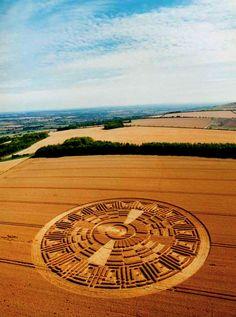 moonengine:  Crop circle found resembling the'Mayan Calendar' formation.