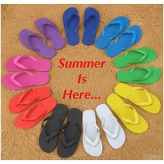 Summer rubber flip flops in most colors & sizes Plz lmk what size and color u want and I'll let u no if I hav it. Width - Medium (B, M)True Color - upper Material - Rubber Outsole Material - Man-Made Heel Height - 0.5 Inches. Shoes