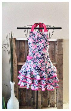Flamenco-Inspired Apron Women's Apron Pink & by FabulouslySpun