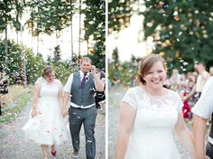 Trembley Photography || Pacific Northwest Private Estate Wedding || Wedding Exit || Bride and Groom