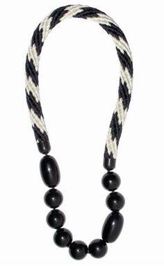 Florian - Black & White Necklace