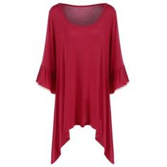SHARE & Get it FREE | Plus Size Flare Sleeve Asymmetrical T-ShirtFor Fashion Lovers only:80,000+ Items·FREE SHIPPING Join Dresslily: Get YOUR $50 NOW!