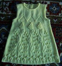Детское вязаное платье | Вязание спицами и крючком – Азбука вязания