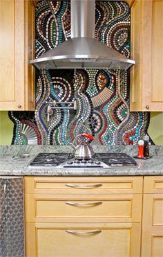 great mosaic backsplash
