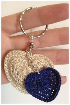 #Crochet heart #keychain
