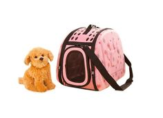 Portable Folding Pet Carrier Shoulder Bag for Dogs and Cats (42*26*32cm, Pink) *** Check out this great product.