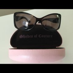 Juicy Couture Royal Sunglasses Lightly used Juicy Couture Royal Sunglasses with case. Juicy Couture Accessories Sunglasses