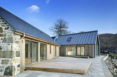 Loch Duich - Rural Design Architects - Isle of Skye and the Highlands and Island. - House Plans, Home Plan Designs, Floor Plans and Blueprints Barn House Design, Modern Barn House, Barn House Plans, Modern House Design, Rural House, House In The Woods, House Property, Cottage Extension, L Shaped House
