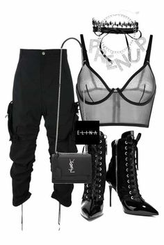 A fashion look from October 2016 featuring La Perla bras, Giuseppe Zanotti ankle booties and Yves Saint Laurent shoulder bags. Browse and shop related looks. Classy Casual, Classy Outfits, Stylish Outfits, Cute Outfits, Stylish Clothes, Stage Outfits, Kpop Outfits, Girl Outfits, Fashion Outfits