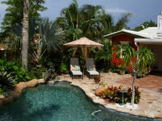 south florida landscaping ideas pictures | South Florida Caribbean Style  Home, Tropical Two Story South Florida ...love color of