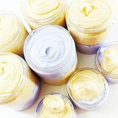 Lemon Lavender Body Butter Our new lemon lavender body butter lotion is dainty yet bold in its iconic scent and all whipped up in our all natural formula. Handmade in pretty colors of purple and yellow and and the perfect pick me up scent anytime of year. Face Scrub Homemade, Homemade Skin Care, Lemon Body Scrubs, Laser Eye Surgery Cost, Whipped Body Butter, Skin Cream, Eye Cream, Hand Cream, The Body Shop