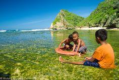 Pantai Ngobaran, Gunung Kidul, Yogyakarta, Indonesia.