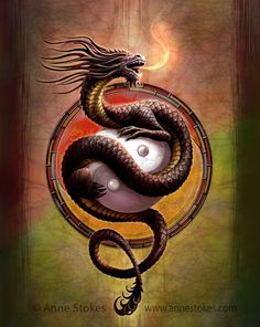 Yin Yang Guardian par Anne Stokes