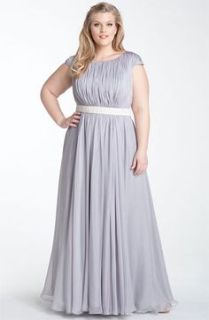 Just plain lovely!!! JS Collections Beaded Waist Chiffon Gown