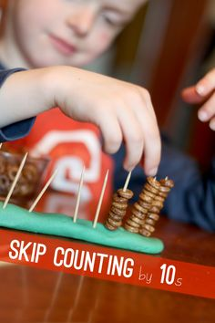 Cheerios skip counting by 10s - plus a great fine motor activity