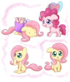 Little fluttershy and pinkie pie