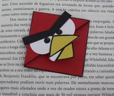 """Angry bird"" di cartoncino"