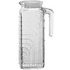 Amazon.com: Bormioli Rocco Gelo Jug with White Lid, 41-Ounce: Home & Kitchen