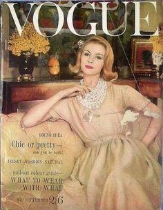 Vintage Vogue magazine covers - mylusciouslife.com - Vintage Vogue UK September 1960.jpg