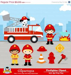 Hey, I found this really awesome Etsy listing at https://www.etsy.com/listing/126259512/50-off-sale-firefighter-digital-clipart