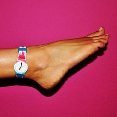 Swatch watch on my ankle...drove my Dad crazy that I would do this!!!!