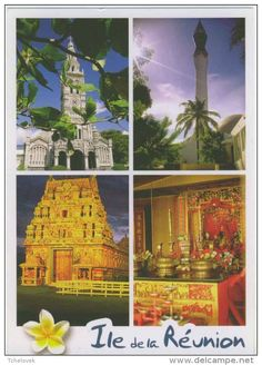 Ile de la Reunion ed Agedis 059 Religion de la Réunion Eglise de Ste Anne, mosquée St Pierre Temple Hindou et chinois [1 EUR]