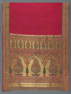 Woman's wrapper (sari) Indian (Maharashtra) 1750–1800 Object Place: Maharashtra, India