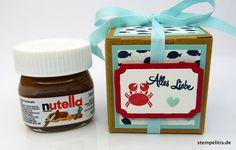 Schokolade & Süßigkeiten - Mini-Nutella Liebe Krabbe - ein Designerstück von Stempelitis bei DaWanda