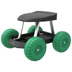 Outdoor Garden Gardening Yard Rolling Scooter Stool Cart Work Seat Bench Wheels