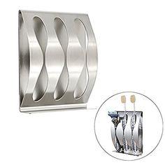 Sumnacon 歯ブラシ スタンド ホルダー 壁 掛け ステンレス (3つ掛け)