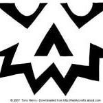 Jagged Face Pumpkin Carving Pattern - Tony Henry