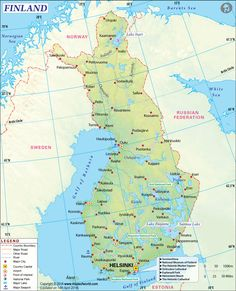 Finland Map from mapsofworld.com Clickable, credible site.