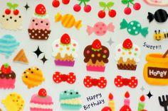 ❤Kawaii Love❤ ~Cupcakes & candy stickers.