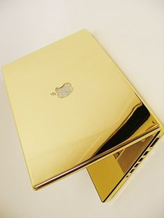 Gold macbook = the coolest thing since bacon. Seriously.