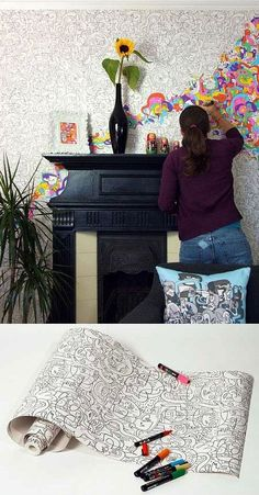 Color your own wallpaper?! This is now a part of my dream house list
