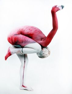 Brillant -   Human flamingo by Gesine Marwedel | Photo by Thomas van de Wall