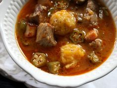 Ghana stew | Quimbombo: Okra Stew With Pork and Plantain Dumplings