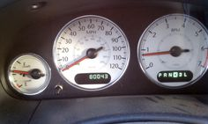 MiniVan Dashboard Odometer
