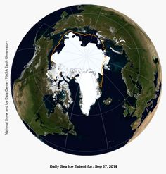 Arctic Sea Ice Low _Sep 17.  Dirk Notz, a polar scientist at the Max Planck Institute for Meteorology in Germany, told today's conference that if you consider how much heat the Arctic is absorbing, it should be more than enough to melt the sea ice completely.