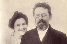 Anton Chekhov and his wife Olga Knipper, 1901