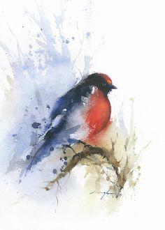 Resultado de imagen de water color bird tutoria